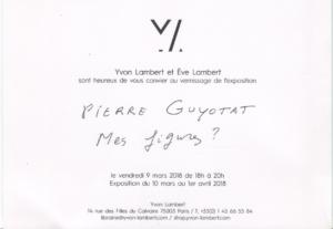 Pierre Guyotat - Mes figures ?